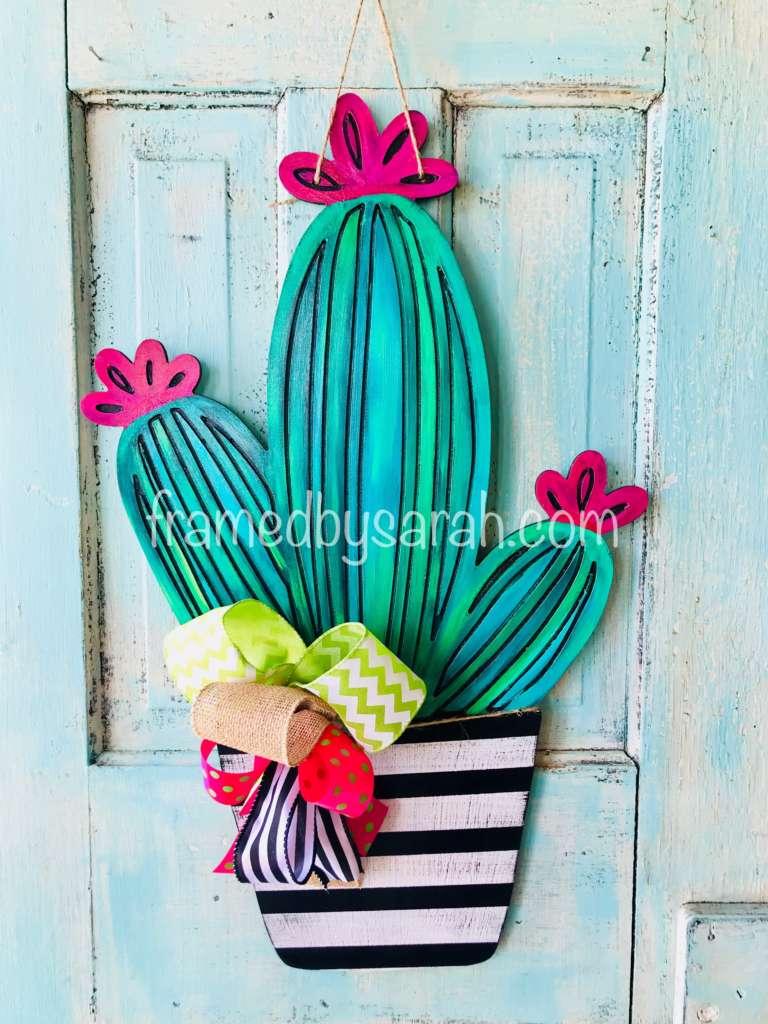 Cactus Door Hanger Virtual Workshop