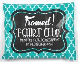 T-Shirt Club Framed! by Sarah