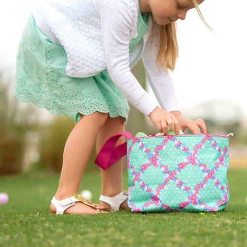 Kids' Monogrammed Easter Tote