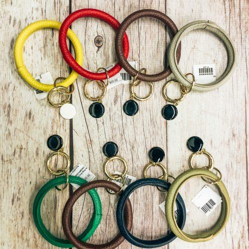 Monogrammed Bracelet Key Ring