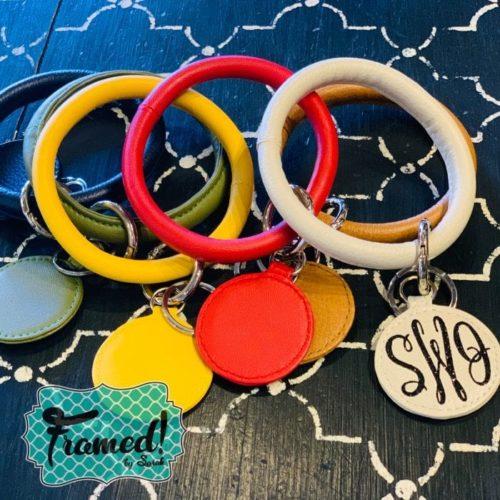 Monogrammed Luxe Keychain Bracelet