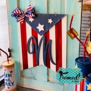 Patriotic Bunting Flag-Framed! by Sarah