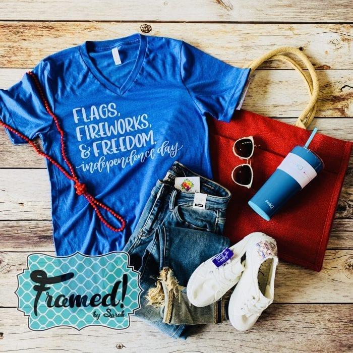 Flags Fireworks & Freedom June T-Shirt Club