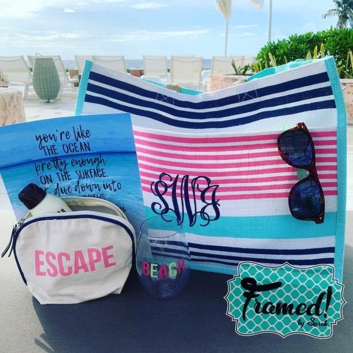 Life's a Beach Monogram Box