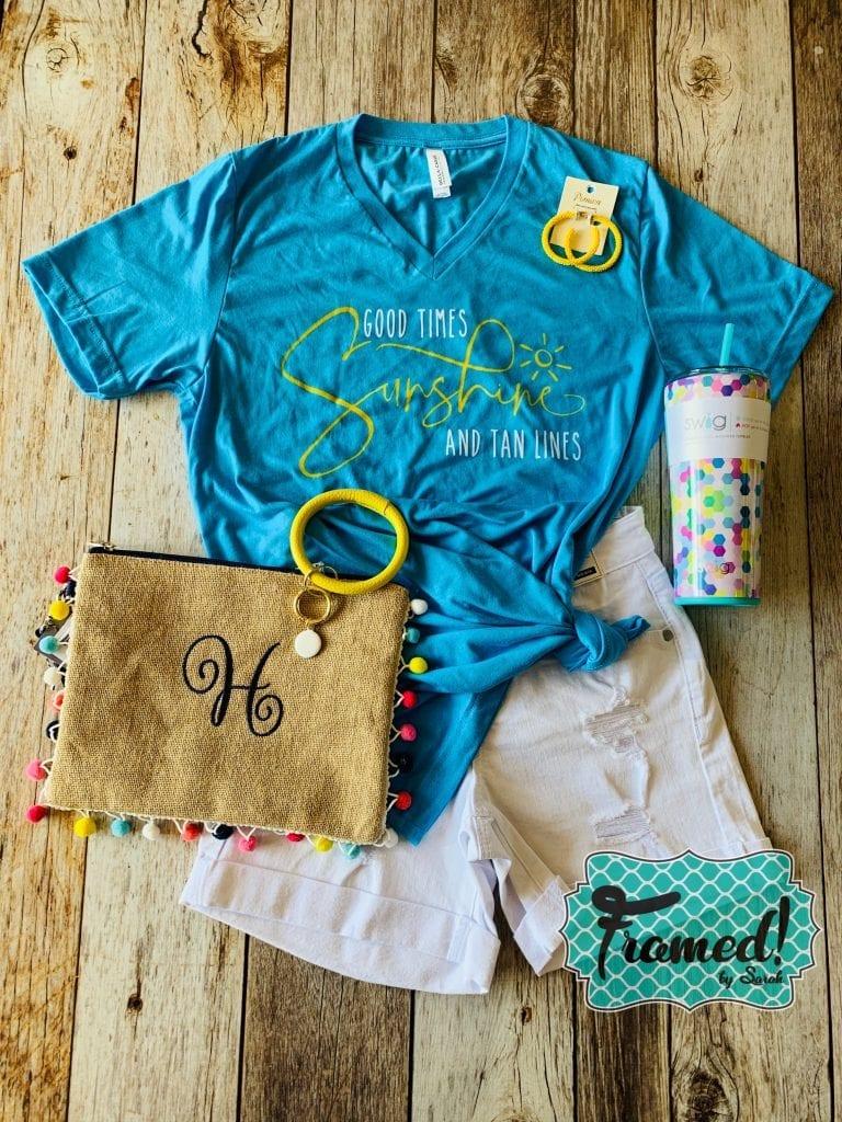 Good Times Sunshine T-Shirt Club Framed! by Sarah