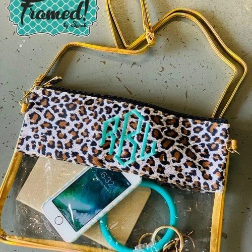 Leopard Monogrammed Stadium Bag