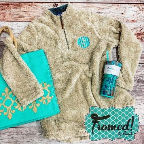 Monogrammed Newport Fleece Pullover