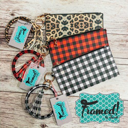 Wristlet & Bracelet Key Ring Set