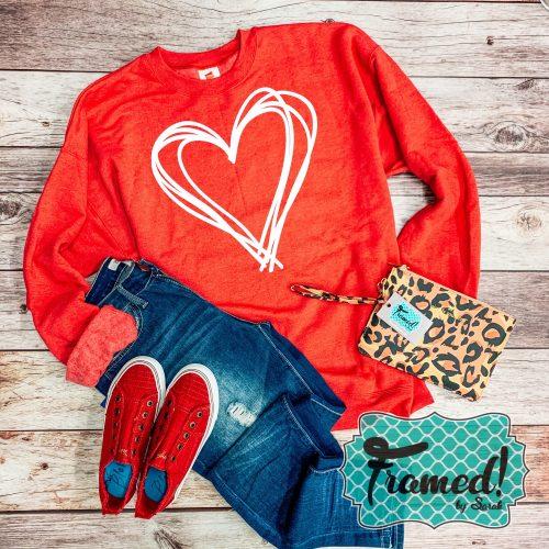 Vintage Heart Sweatshirt
