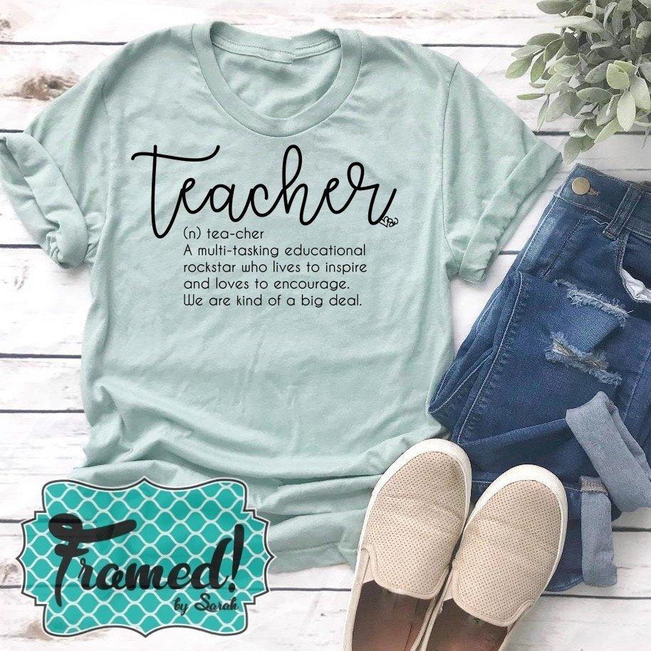 Educational Rockstar Tees for Teachers Framed! Subscription Box for Teachers Framed by Sarah