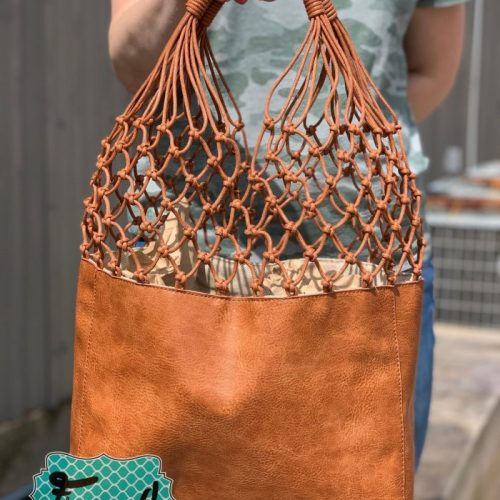 Leather Lattice Tote