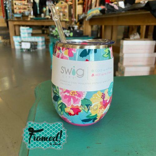Swig 14 oz. Printed Stainless Steel Tumbler Wine Cup
