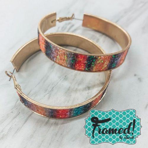 Rainbow Glitter Earrings