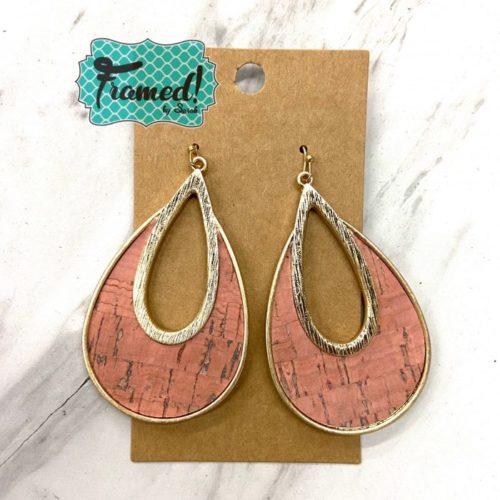 Coral Cork Earrings