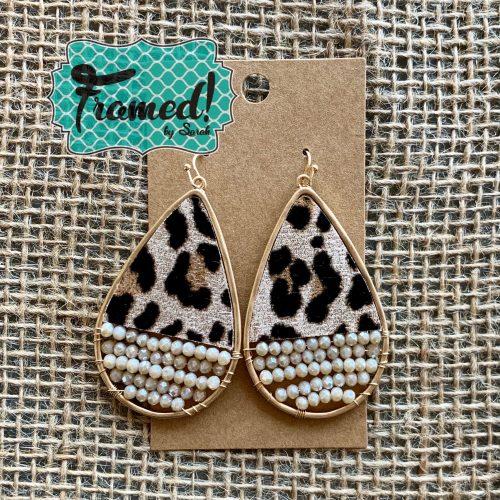 Leopard Beaded Earrings