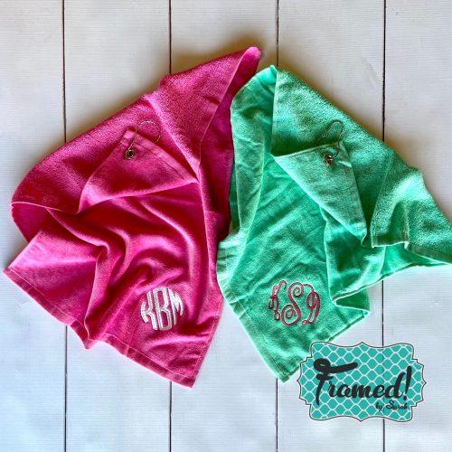 Monogrammed Sports Towel