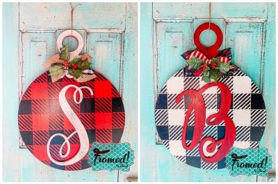 Buffalo Plaid Ornament Door Hangers