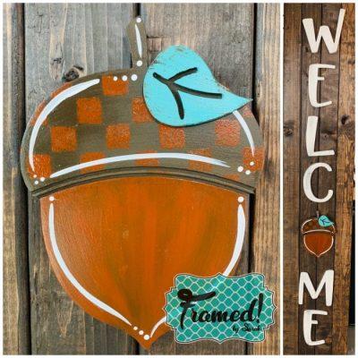 Welcome Board Acorn